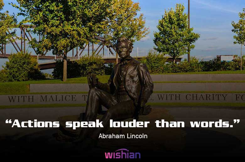 Abraham Lincoln Famous Quotes on working Hard