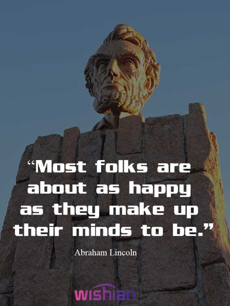 Lincoln Internet Quote on Happiness
