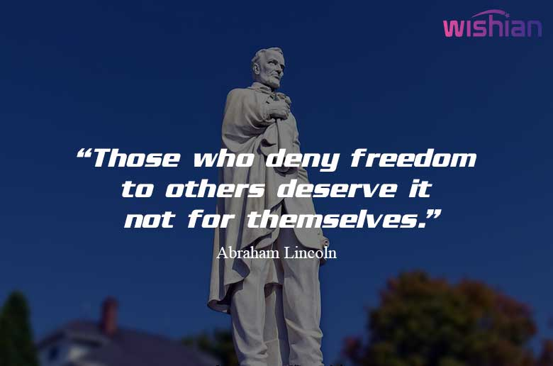 What did Abraham Lincoln Say about democracy