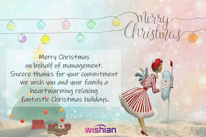 Inspirational Christmas Greetings for employees