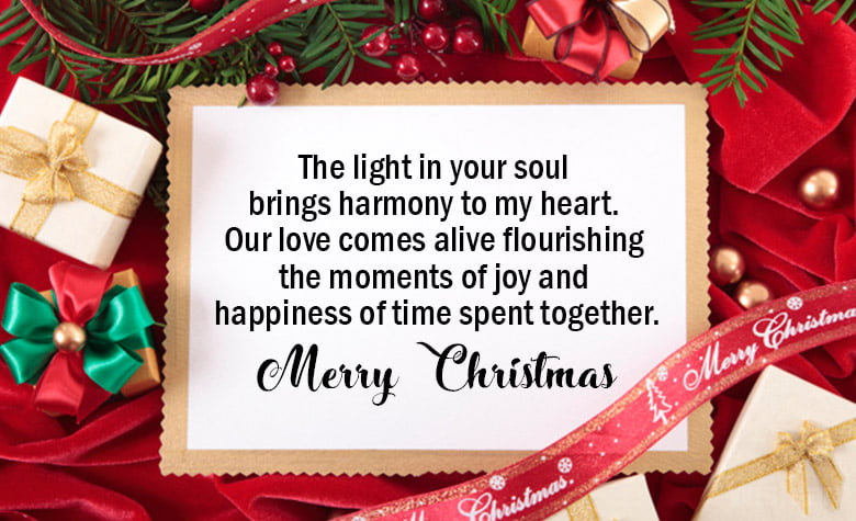 Romantic Messages for Him at Christmas