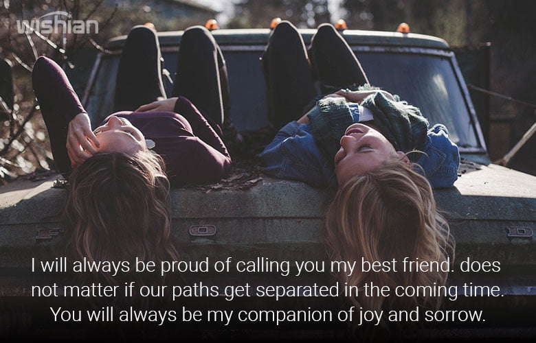 I am Proud of You Message for Best Friend