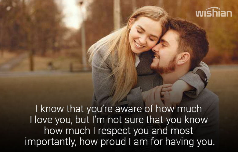 I am Proud of You Messages for Girlfriend