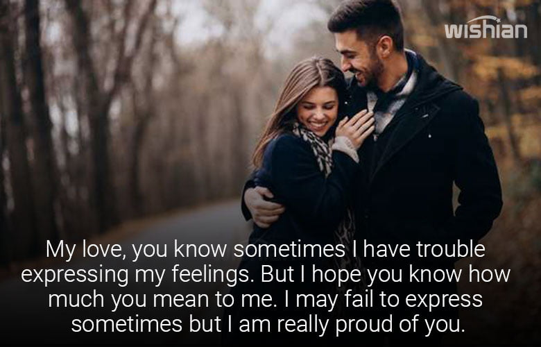 I am Proud of you Babe message for Girlfriend