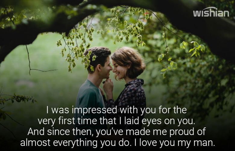 I am Proud of you Quotes and Sayings for Boyfriend