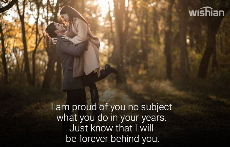 Proud of you Quote for Girlfriend