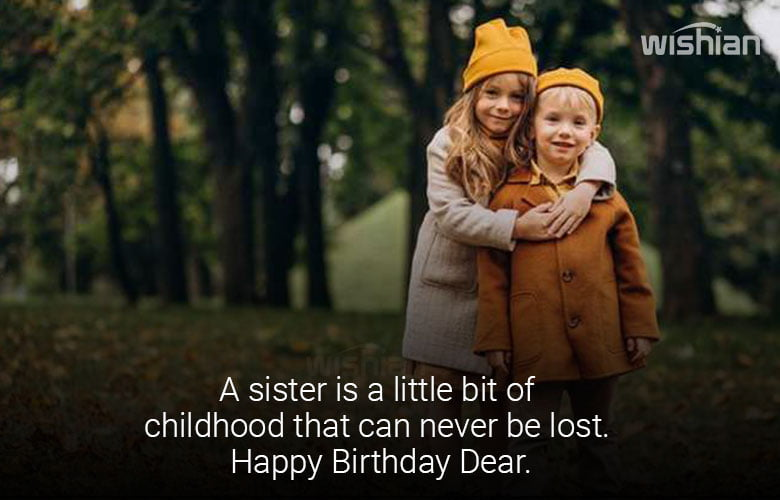 Sweet Sister Quotes for Birthday