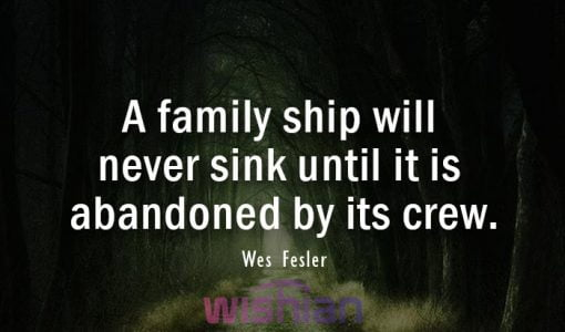 Abandoned Quotes about family by Wes Fesler
