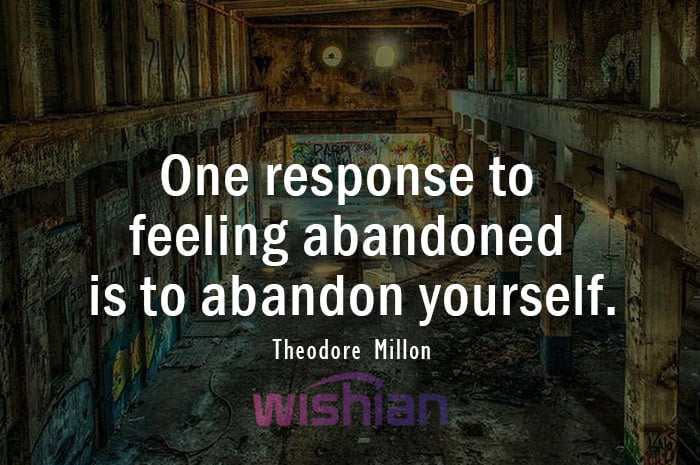 Abandoned Quotes by Theodore Millon with Image