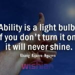 Ability Quotes by Khang Kijarro Nguyen