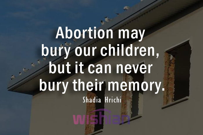 Abortion Quotes by Shadia Hrichi