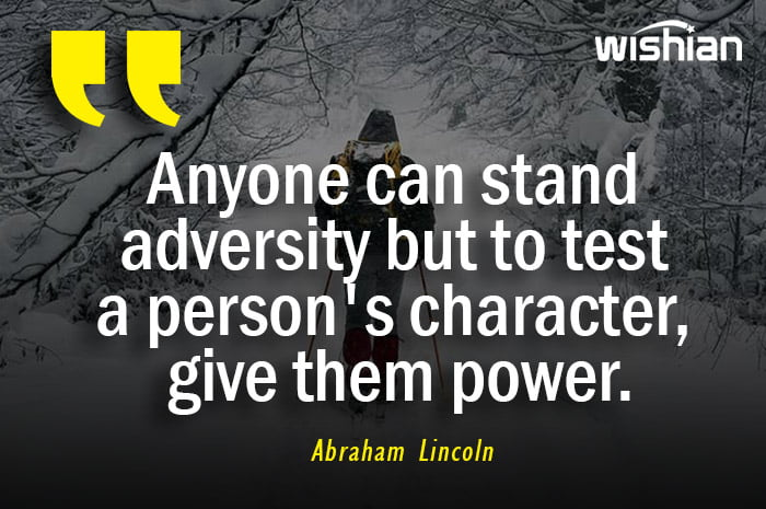 Abraham Lincoln Quotes about Adversity with beautiful image