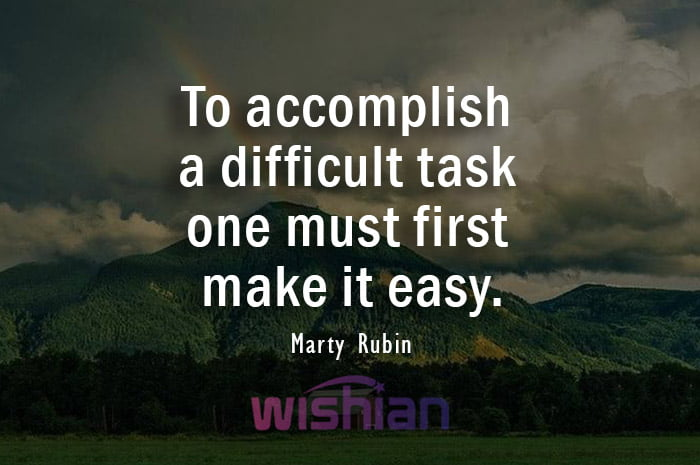 Accomplishment Quote by Marty Rubin