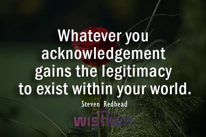 Acknowledgement Quote by Steven Redhead