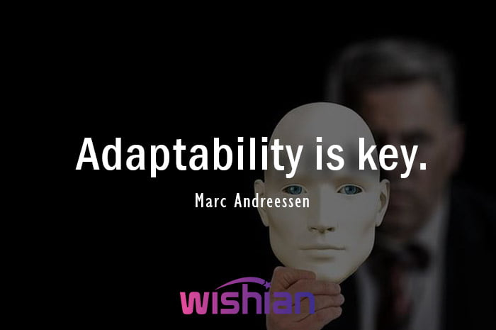 Adaptability is the Key Quote by Marc Andreessen about Adjustment