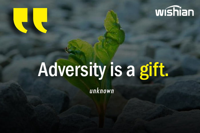 Adeversity is a gift Quote with beautiful Image