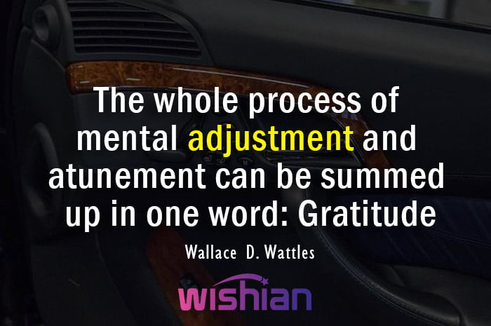 Adjustment Quotes by Wallace D. Wattles