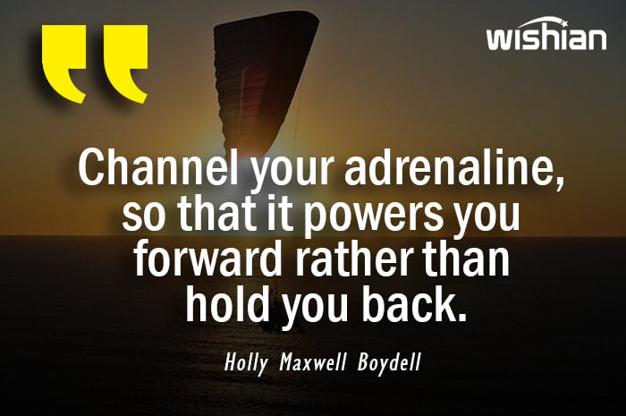 Adrenaline Quotes and sayings by Holly Maxwell Boydell