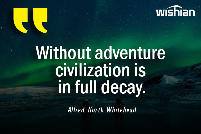Adventure Quotes by Alfred North Whitehead
