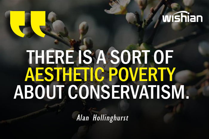 Aesthetic Quotes by Alan Hollinghurst