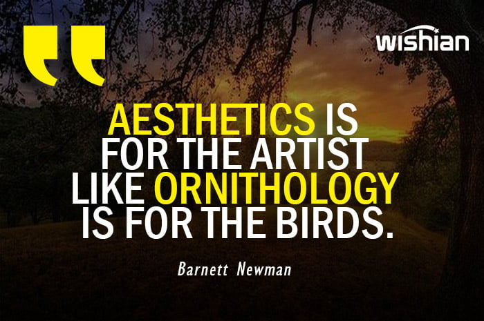Aesthetic Quotes by Barnett Newman
