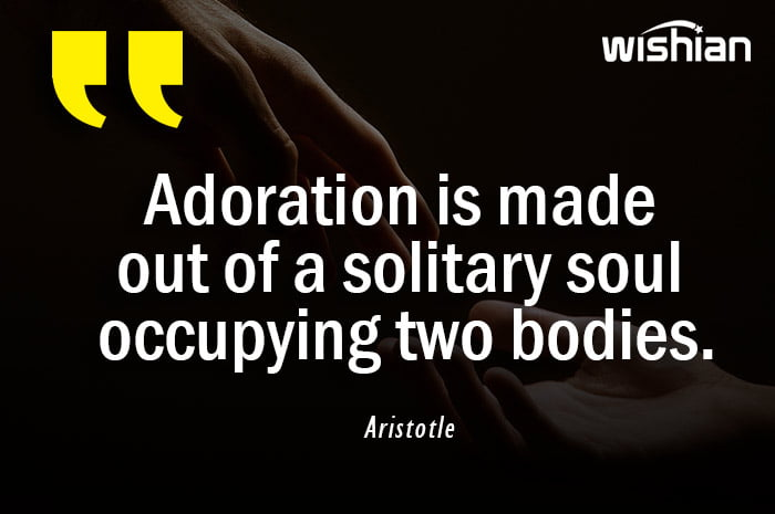 Aristotle Quotes about Adoration