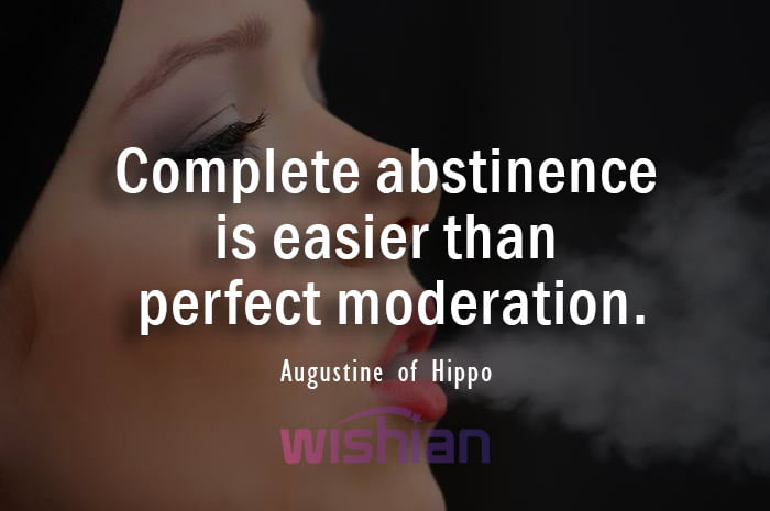 Augustine of Hippo quote about Abstinence