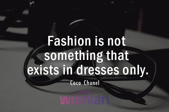 Coco Chanel Quote about Fashion and accessories