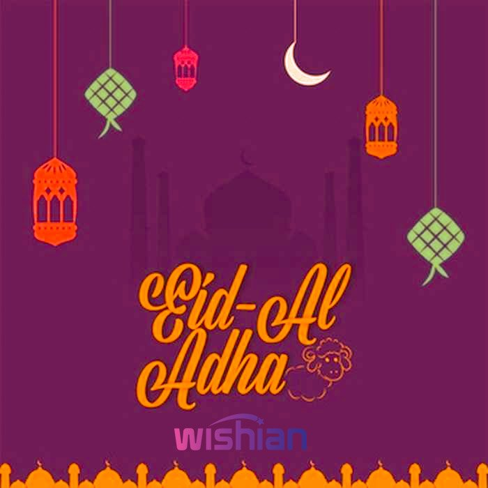 Colorful Eid ul Adha Greetings Images for Facebook Post