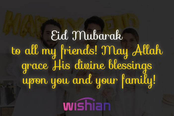 Eid Mubarak to all my friends wishes with images