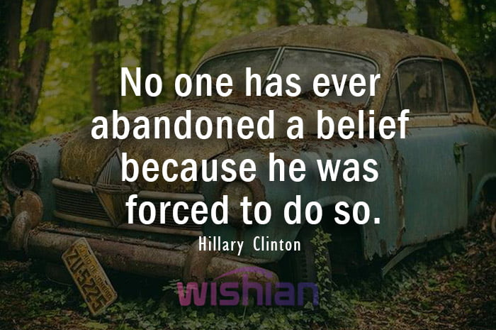 Hillary Clinton Quotes about Abandon with Image