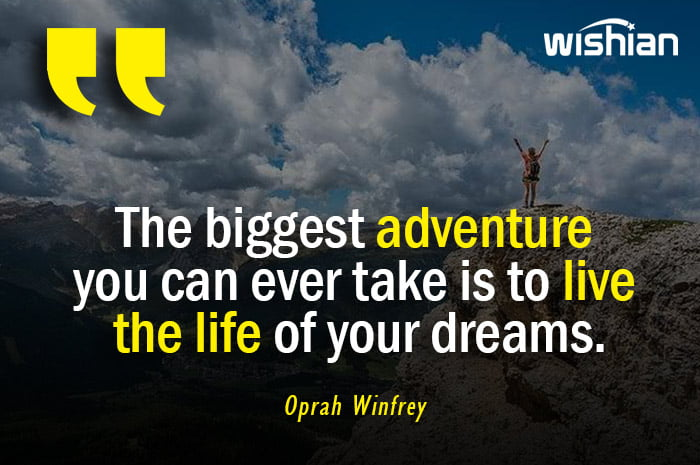 Inspirational Adventure Quotes by Oprah Winfrey