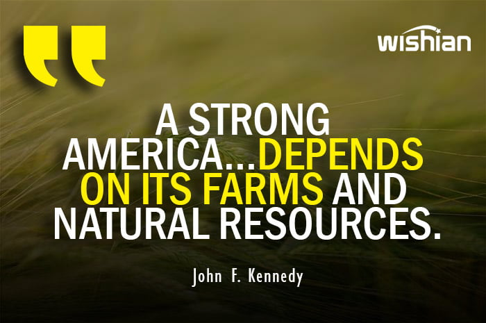 John F Kennedy Quotes on Agriculture and Farming