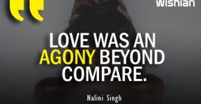 Love was an Agony Quotes by Nalini Singh