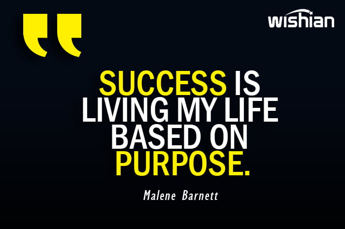 Meaning of Success Quotes adviced by Malene Barnett