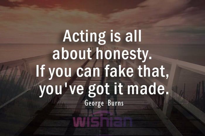 Quotes about Acting by George Burns