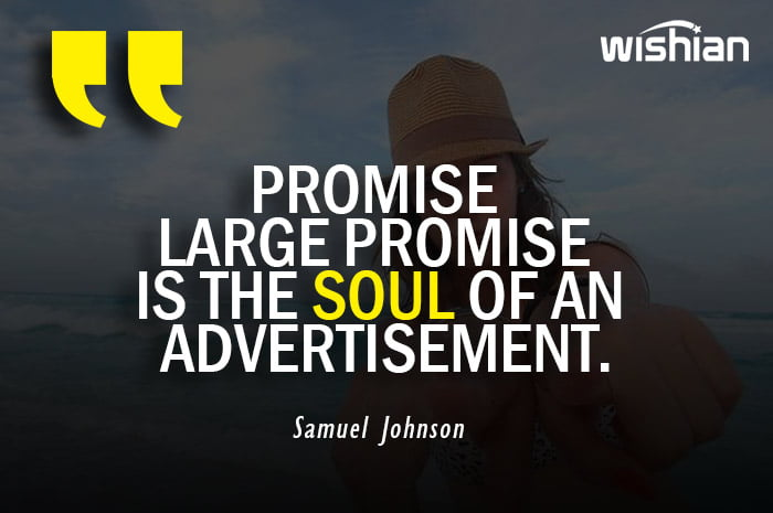 Samuel Johnson Quotes on Advertisement and promise