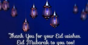 Thank you for your EID Wishes