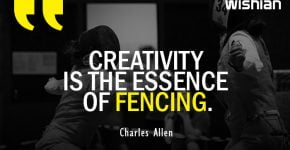 Creativity is the essence of Fencing Quotes by Charles Allen