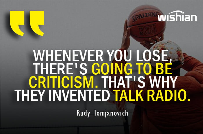 Funny Reply Quotes for Basketball Players against Criticism