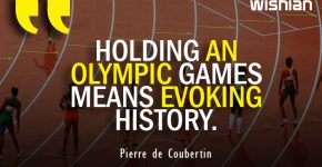 Holding an Olympic Games means evoking history Quotes by Pierre de Coubertin