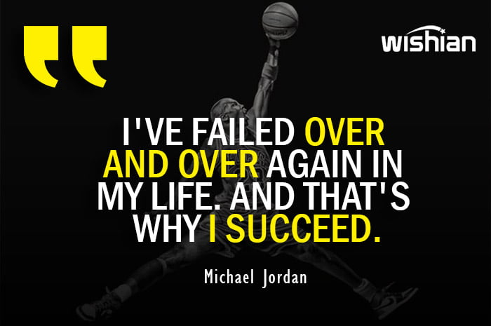 Michael Jordan Inspirational Quotes on Failure and Success in Basketball life