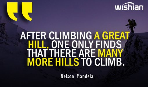 Nelson Mandela Quotes on Climbing and climbers