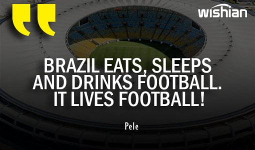 Pele Soccer Quotes about Brazil Lives Football
