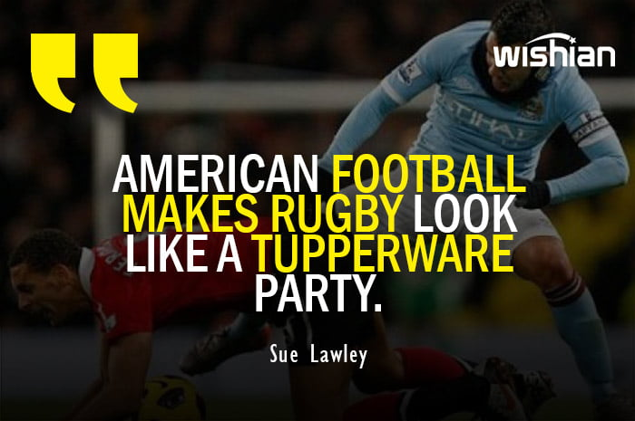 Sue Lawley Trolled RUGBY by Funny American Football Quotes