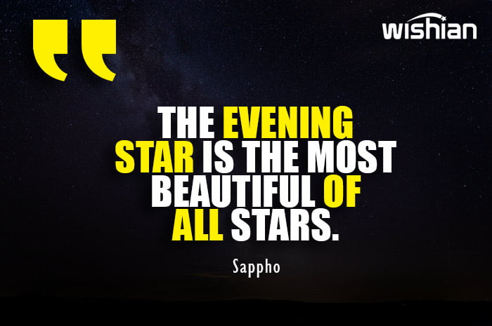 Beautiful Evening Star Quotes for Girlfriend by Sappho