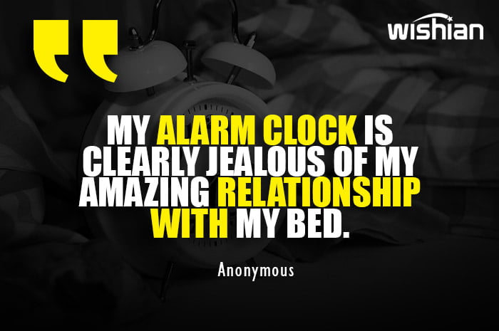 Funny Good Morning Quotes with images of Alarm Clock for Whatsapp