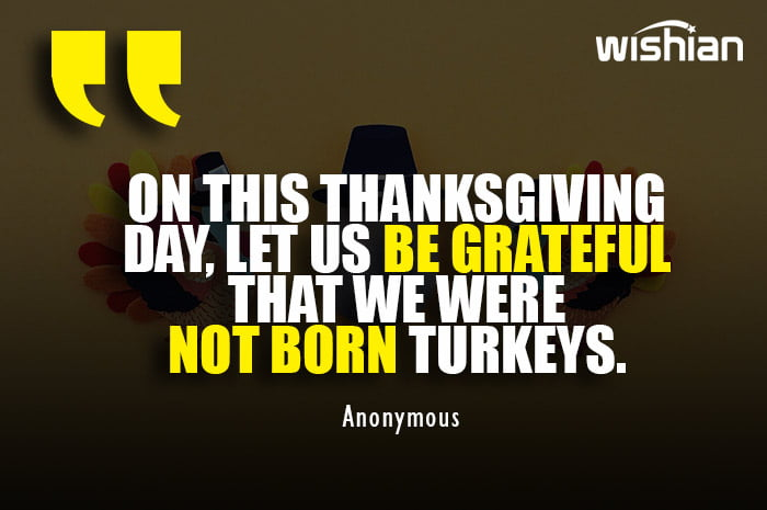 Funny Thanksgiving day message for friends with hillarious quote about turkey
