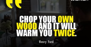 Henry Ford Quotes about Chop your own Wood