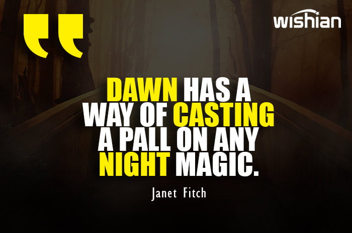 Janet Fitch Quotes about Dawn and night magic